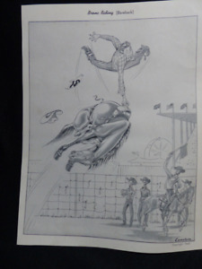 """Prints by Stewart Cameron """"What I Saw at the Stampede"""" - 1949 - Set of 10 - RARE"""