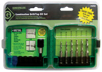 Greenlee  High Speed Steel  Hex  Multi Size  Dia. Drill and Tap Bit Set  6 pc.