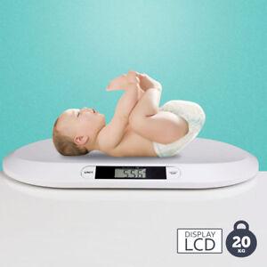 Bilancia Pesa Bambini Neonati Display Digitale LCD Pesa Neonato 20KG Bianco