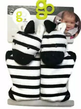 Go By Goldbug Strap Cover Pals For Car Seat Straps Strollers & More Zebra New