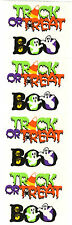 Mrs. Grossman's Stickers - Trick or Treat  - Boo - Halloween Words - 4 Strips