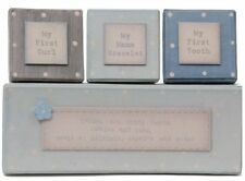 East of India BOYS FIRST TOOTH CURL BRACELET BOX Newborn or Christening Gift
