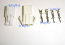 MINI TAMIYA & KYOSHO Battery Connector Male Female EL4.5mm Plug & Crimp x 10 SET