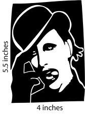 2 MARILYN MANSON Stickers  Cut Vinyl Decal Brian Warner Spooky Kids Satan onFire