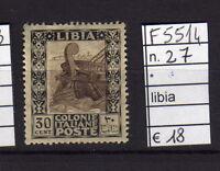 FRANCOBOLLI COLONIE LIBIA LINGUELLATI* N°27 (F5514)