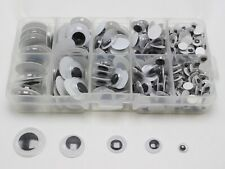 340 Assorted size 6mm-20mm Wiggly Wobbly Googly Eyes foy DIY Doll with Box