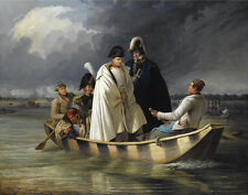 """perfect oil painting handpainted on canvas """"Napoleon crossing the river""""@NO7655"""
