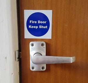 FIRE DOOR KEEP SHUT  Sticker Sign Offices Public Buildings 70mm x 70m Waterproof