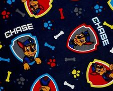 FAT QUARTER  PAW PATROL FABRIC CHASE ON THE CASE QUILTING COTTON  SPIN MASTER FQ