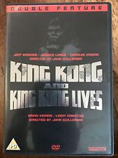 KING KONG + KING KONG LIVES De Laurentiis 1976 Remake + 1986 Sequel UK DVD