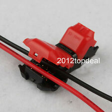 5pcs 2 Pin T Shape 300V 18-24awg Wire Cable Connectors Terminals Crimp Scotch