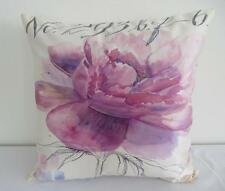 Watercolour Pinkish Large Flower Faux Silk Cushion Cover 45cm Home Decor