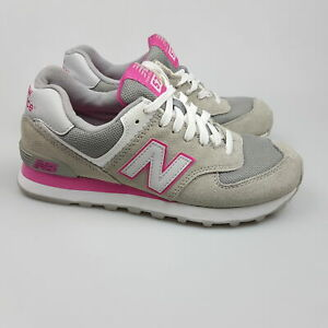 Women's NEW BALANCE '574' Sz 7 US Shoes Grey Pink Near New   3+ Extra 10% Off