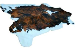 Superb Quality Brazilian Cowhide Speckled Red Lge size Approx 6 X 5 Ft.