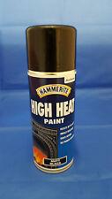 HAMMERITE HIGH HEAT PAINT AEROSOL - MATT BLACK 400ML SPRAY PAINT MAINTENANCE DIY