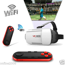 Bluetooth VR BOX Virtual Reality 3D Glasses Remote Control For Iphone Smartphone