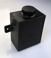 1.2L Universal Aluminum Radiator Overflow Coolant Tank Water Bottle  BLACK