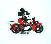 MICKEY MOUSE on motocross red bike motorcycle IRON ON / SEW ON PATCH 1729