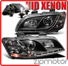 08 09 10 PONTIAC G8 GT GXP DRL LED BLACK PROJECTOR HEADLIGHTS W/HID 6000K SIGNAL