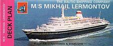 1970s MIKHAIL LERMONTOV Deck Plan w/ Pics-Ship Sank 1986 - SSHSA sHiPs WORLDWIDE