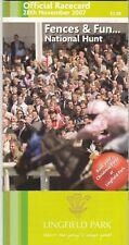 Racecard - Lingfield Park 28th November 2007