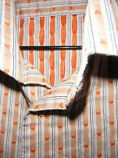 "Unworn Gent's B>More Shirt. Amazing Weave In Beige & Orange. 21"" Pit to Pit."