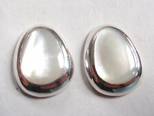 Mother of Pearl with Soft Corners 925 Sterling Silver Stud Earrings