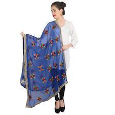 Scarf Wedding Dress Fashion Suit Beautiful Dupatta Blue Long Scarf Shawl