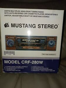 Mustang Model CRF-280W Cassette Car Stereo Brand New rare