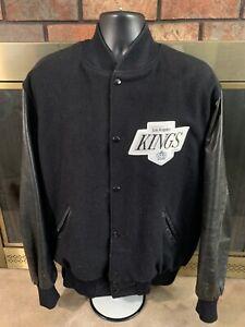 Vintage Los Angeles Kings NHL Hockey Leather Varsity Letterman Jacket Mens Sz XL
