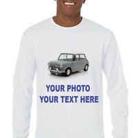 Custom Made Personalized  Long Sleeve T-Shirts Photos on a shirt-CLEARANCE!