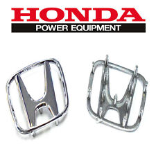 For Honda CRV Accord Civic Odyssey Steering Wheel Chrome Badges Silver Emblems