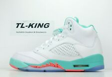 bd12e009627 Nike Air Jordan 5 Retro GS White Crimson Pulse Light Aqua Black 440892-100 D