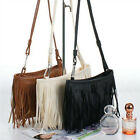 Fashion Women Tassel Crossbody Shoulder Bag Clutch Messenger Satchel PU Leather