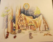 Disney Snow White's Woodland Friends series Gwp 6 Pin Set Illustrated Map