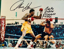 Tommy Hearns Roberto Duran Dual Signed 11 x 14 Photo Autographed Beckett BAS 6