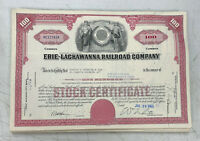 Erie Lackawanna Railroad Company Stock Certificate RR Norfolk Southern NS