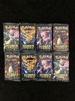 Pokemon TCG Hidden Fates Booster Packs x 8 Brand New & Sealed (1st Lot)