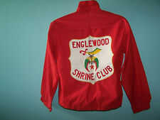1960's The Sportcrafter By Rugby Englewood Shrine Club Mens Jacket Size 42