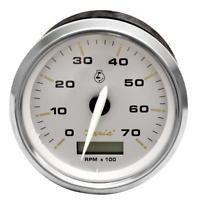 Faria Boat Tachometer Gauge THC600B   Kronos Silver w/ Hour 3 1/4 Inch