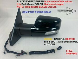 2019 2020 dodge ram 1500 left side mirror driver side blind spot dark green