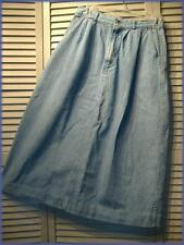 Casual Comfortable Flared Denim Skirt ~ Size 12 ~ Made in the USA