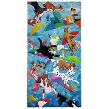 "Raining Cats and Dogs Beach Bath Towel 30"" x 60""  Velour"