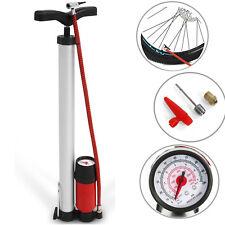 Fahrradluftpumpe Standpumpe Hochdruck mit Manometer für alle Ventile FZU1508