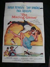 MATING GAME movie poster DEBBIE REYNOLDS TONY RANDALL  Original 1959 One she