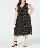 Jessica Howard Plus Size Polka-Dot Midi Dress MSRP $99 Size 16W # 11NA 418 NEW