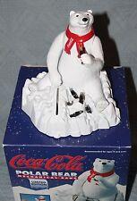 1995 Ertl Limited Edition Coca Cola Polar Bear Mechanical Bank W/ Original Box