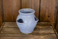 Vintage Pottery Cactus Strawberry Planter Pot Blue periwinkle