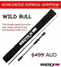CTEX Composites WILD BULL jig rod 5'2 PE3 speed jigging boat rod fishing O/Head