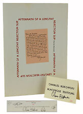 CHARLES BUKOWSKI Aftermath of a Lengthy Rejection Slip SIGNED First Edition 1983